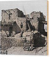 Hopi Hilltop Indian Dwelling 1920 Wood Print