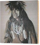 Hopi Snake Priest Wood Print