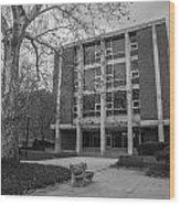Hopkins Hall Osu Black And White  Wood Print