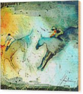Horse Racing 02 Madness Wood Print