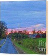 Horizon Sunset Wood Print