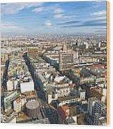 Horizontal Aerial View Of Berlin Wood Print