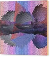 Horizontal Reflection Wood Print