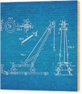 Hornby Meccano Patent Art 1906 Blueprint Wood Print
