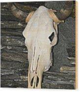 Horned Skull Wood Print