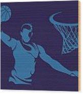 Hornets Shadow Player2 Wood Print