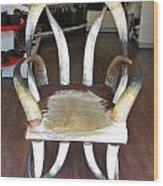 Horny Chair Wood Print