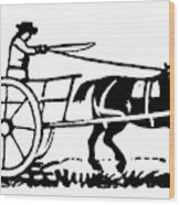 Horse & Cart, 19th Century Wood Print