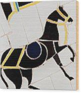 Horse-01 Wood Print by Haris Sheikh