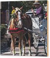 Horse And Cart Wood Print