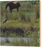 Horse And Friend Wood Print