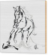 Horse- Andalusian Angel Wood Print