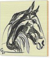 horse - Apple digital Wood Print