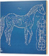 Horse Automatic Toy Patent Artwork 1867 Wood Print by Nikki Marie Smith