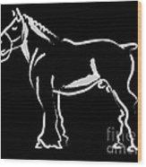 Horse - Big Fella Wood Print