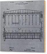 Horse Breaker Patent Wood Print