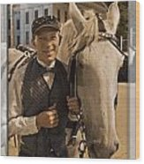 Horse Carriage Driver 3 Wood Print