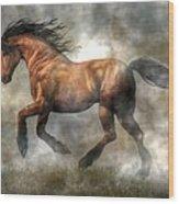 Horse Wood Print by Daniel Eskridge