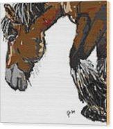 horse - Guus Wood Print