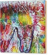 Horse In Abstract Wood Print