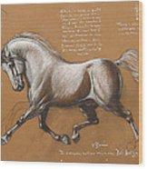 Horse Is Beautiful # 4 Wood Print