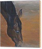 horse - Lily Wood Print