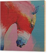 Horse Wood Print by Michael Creese