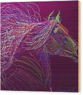Horse Of Fire Wood Print
