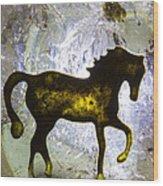 Horse On A Quartz Crystal Wood Print
