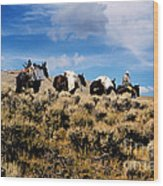 Horse Pack   #003 Wood Print