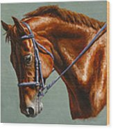 Horse Painting - Focus Wood Print