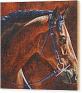 Horse Painting - Ziggy Wood Print