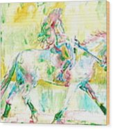 Horse Painting.19 Wood Print