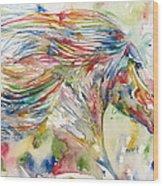Horse Painting.24 Wood Print