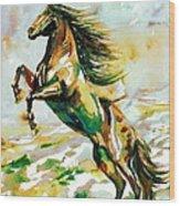 Horse Painting.25 Wood Print