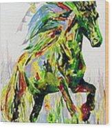Horse Painting.26 Wood Print