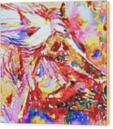 Horse Painting.28 Wood Print