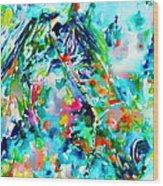 Horse Painting.30 Wood Print