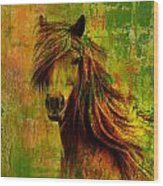 Horse Paintings 001 Wood Print