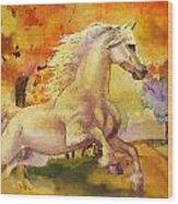 Horse Paintings 003 Wood Print