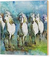 Horse Paintings 005 Wood Print