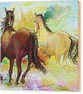 Horse Paintings 009 Wood Print