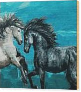 Horse Paintings 011 Wood Print