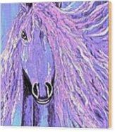 Horse Pale Purple 2 Wood Print