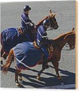 Horse Police Wood Print