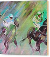 Horse Racing 04 Wood Print