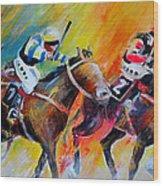 Horse Racing 05 Wood Print