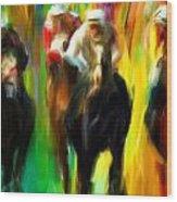 Horse Racing IIi Wood Print