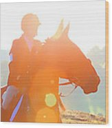 Horse Show Flares Wood Print