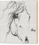 Horse Sketch 2014 05 24a Wood Print
